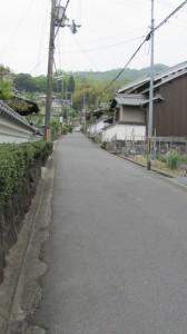 白毫寺への直線路