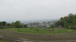 奈良市寺山霊苑付近からの風景