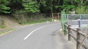 左の山道へ