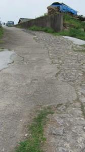 石の舗装みち