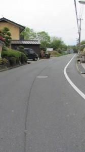 404ポイントからの上り坂(近鉄てくてく奈良-8まっぷ)