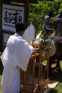 献饌(長谷の車田御田植祭)