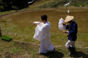 四方祓の儀(長谷の車田御田植祭)