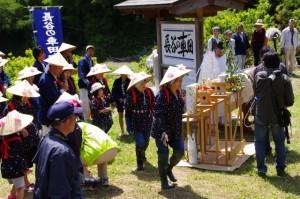 長谷の車田御田植祭
