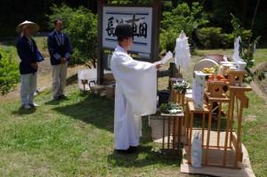 昇神の儀(長谷の車田御田植祭)