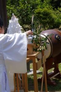 撤饌(長谷の車田御田植祭)
