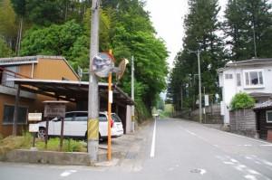 珍布峠ウォーキングコース・マップ (4)付近