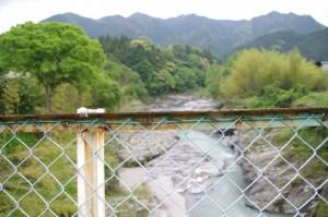 赤池橋から望む櫛田川の下流方向
