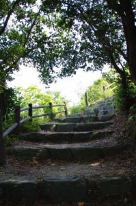 おうむ岩展望台への石階