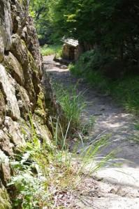 おうむ岩の聞き場付近から望む語り場