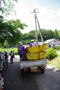 立梅用水ボートくだり用のボートの搬送
