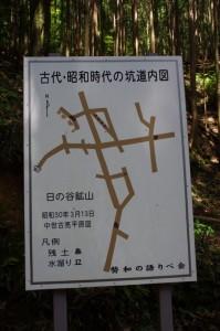「古代・昭和時代の坑道内図」(日の谷鉱山)