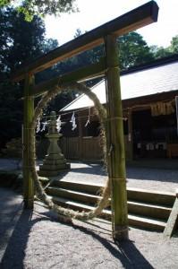 茅の輪(佐那神社)
