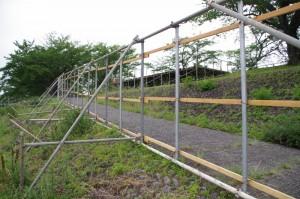 伊勢神宮奉納全国花火大会の準備が進む度会橋付近
