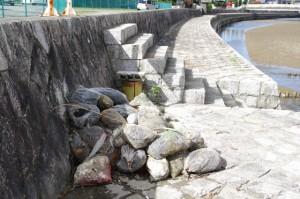 竹炭の袋(姫之橋付近)