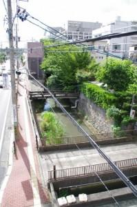 百五銀行伊勢支店前の歩道橋からの眺め