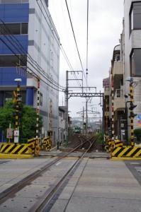 丸之内交差点付近から望む上野市駅