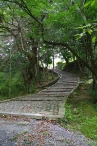 伊賀上野城の天守閣へ