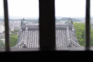 伊賀上野城の天守閣からの風景