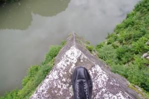 高石垣の上からの風景(伊賀上野城)