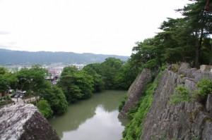 伊賀上野城の高石垣からの風景