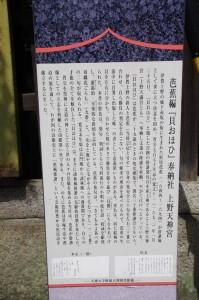 上野天神宮の説明板