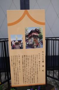 だんじり蔵 東町の案内板(伊賀上野)