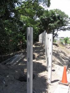 日保見山八幡宮の社域境界工事
