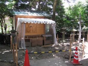 仮殿(日保見山八幡宮)