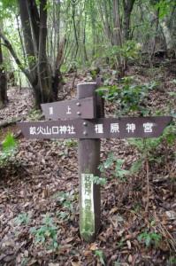 畝傍山山頂、畝火山口神社、橿原神宮の分岐道標