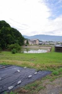 畝火山口神社参道入口付近