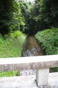 堀に架かる橋(神武天皇畝傍山東北陵)