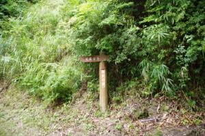 歴史の道の道標(金剛座寺本堂の裏)