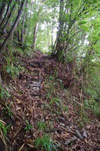 穴師神社跡への登り