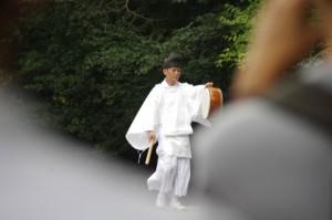 報鼓(秋季皇霊祭遥拝)