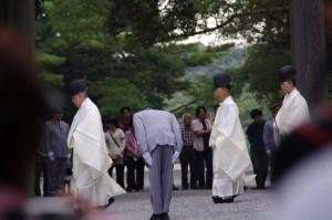 秋季皇霊祭遥拝