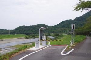 内宮B駐車場(五十鈴川河川敷)B6の出口