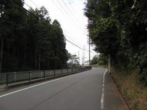 田丸神社から下田辺交差点への坂道