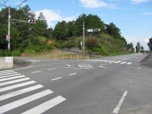 下田辺北(しもたぬいきた)交差点