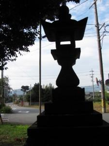 常夜燈(坂手国生神社への交差点付近)