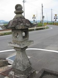 常夜燈(JR参宮線 前川踏切付近)