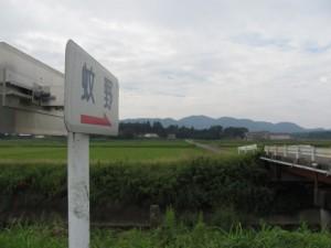 JR参宮線前川踏切から蚊野神社へ