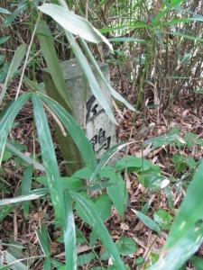 「左 鴨神社」の道標