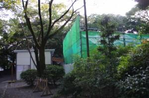 造替工事中の宿衛屋(月夜見宮)