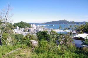 鳥羽城本丸跡付近からの眺望