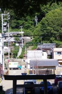 大山祗神社(鳥羽市)から望む階段