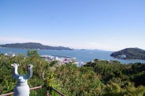 日和山からの神島の遠望(鳥羽市)
