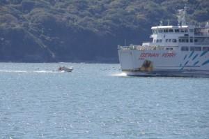 小型船舶と伊勢湾フェリー