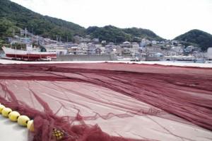 漁業用の網(神島港)
