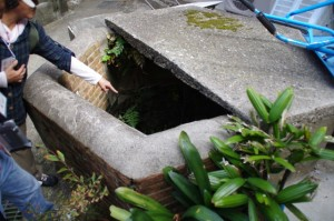 時計台付近の六角形の井戸(神島)